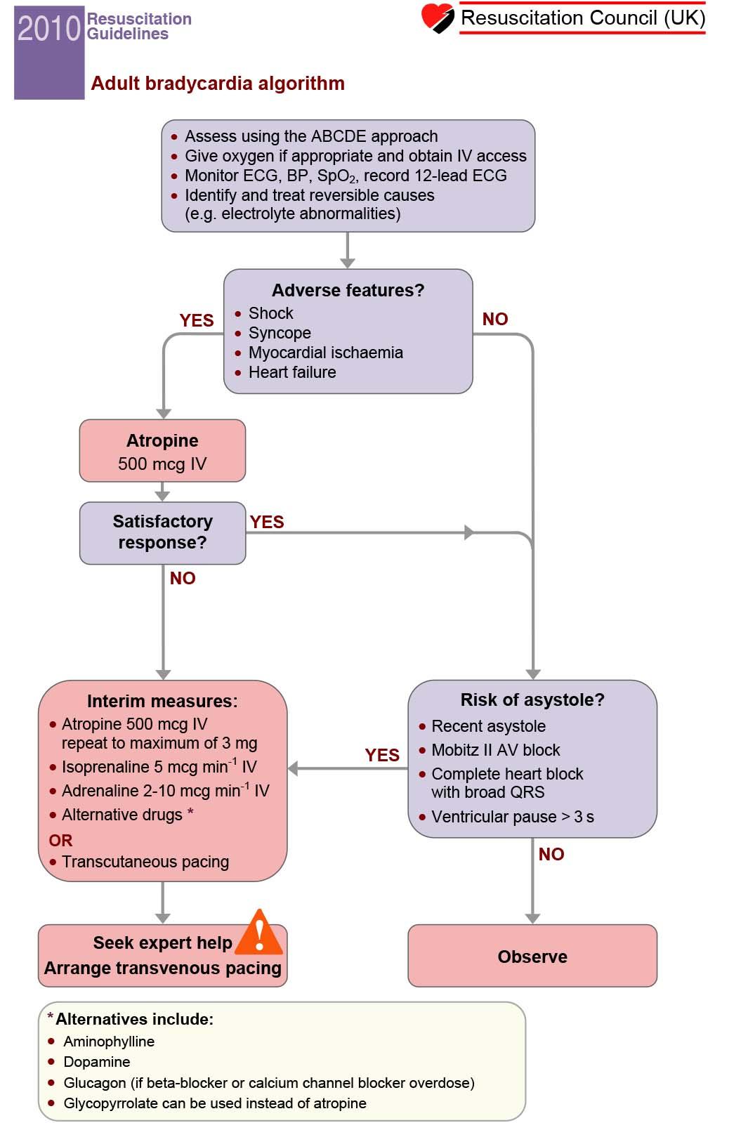 Advanced Life Support (ALS) Bradycardia Algorithm